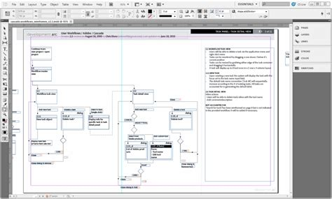 Creating Wireframes For New Features Gt Building Adobe Workflowlab Part 2 Planning For The Indesign Flowchart Template