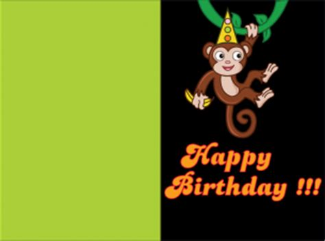 printable birthday cards with monkeys monkey business birthday cards