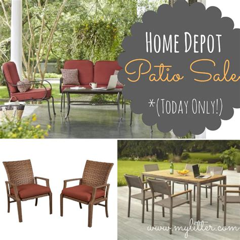home depot patio furniture sale 50 sets today only