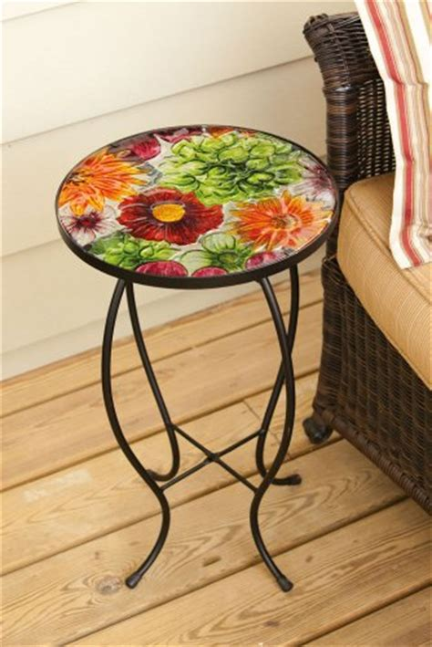 cheap and inexpensive outdoor patio glass accent tables on