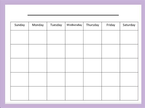 Monday Through Sunday Calendar Online Calendar Templates Free Monday Through Friday Calendar Template