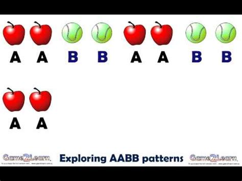 aabb pattern games continuing aabb patterns youtube