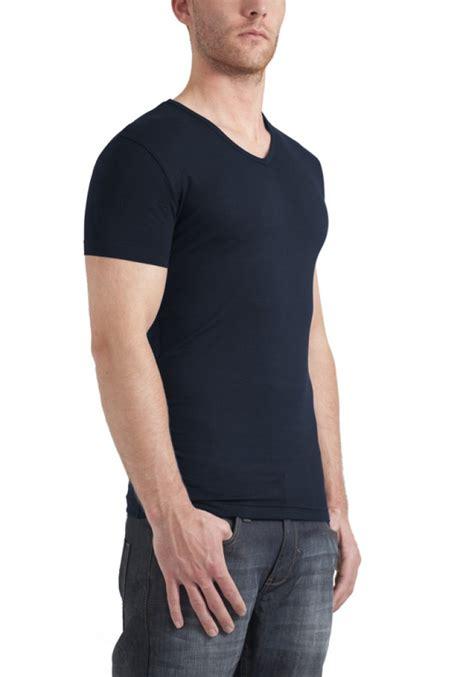 Bc Vneck Basic garage t shirt v neck bodyfit navy stretch 0202