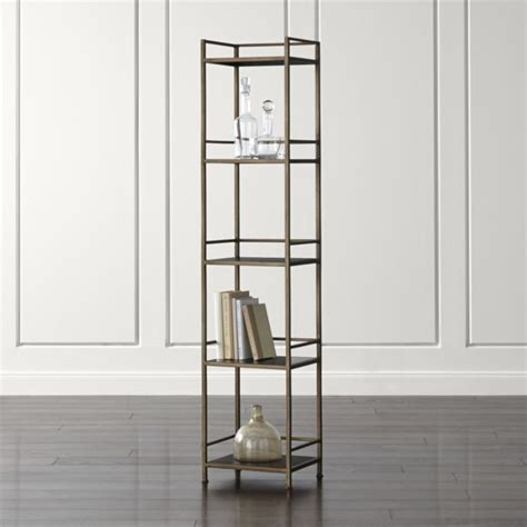 narrow wood bookcase wood and metal bookcase a book storage for ultra rustic
