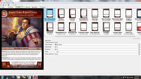 magix set editor custom card template screenshots magic set editor