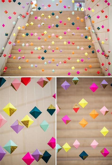 How To Make Paper Decorations For Your Room - 25 best ideas about hanging decorations on