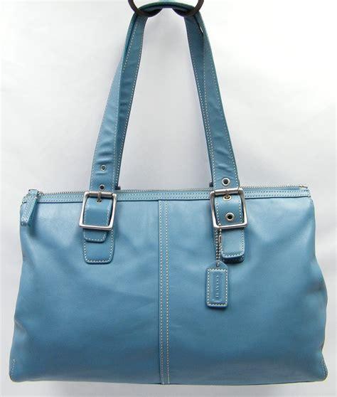 light blue coach wallet coach light sky blue large leather purse shoulder bag