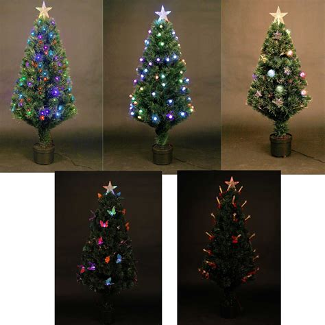 led fibre optic christmas tree pre lit xmas tree 2ft 3ft