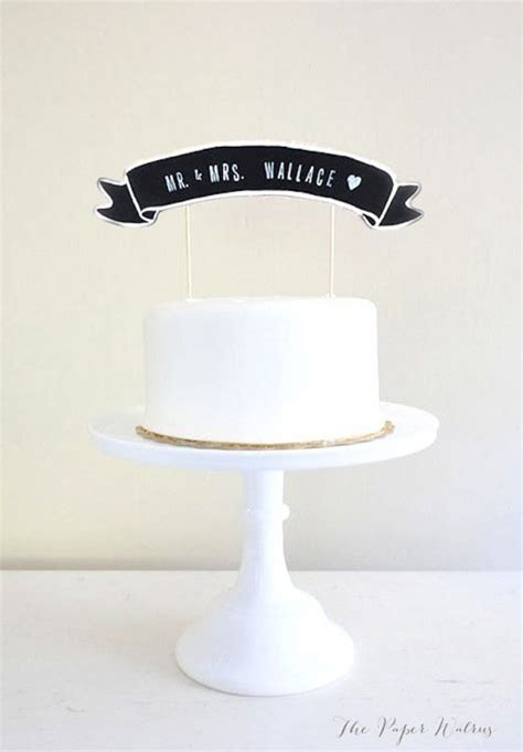Wedding Banner Cake Topper by 20 Amazing And Unique Wedding Cake Toppers 183 Rock N Roll