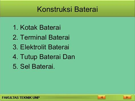 Baterai Kotak power point baterai