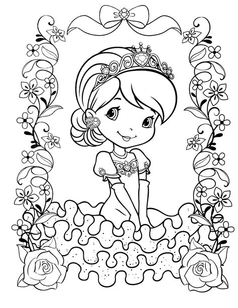 strawberry shortcake coloring pages strawberry shortcake coloring page strawberry shortcake