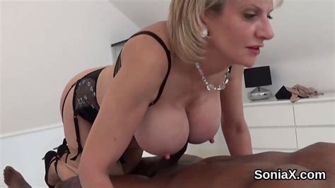 Uk British Milf With Big Tits Plays With Black Muscular