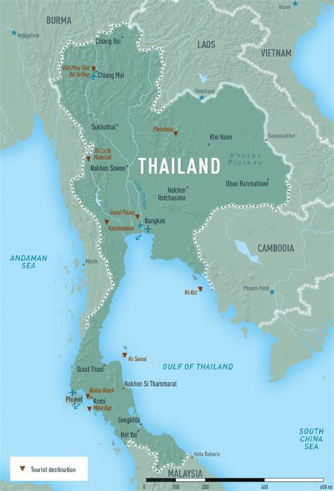 printable map thailand thailand chapter 4 2018 yellow book travelers