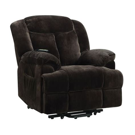 coaster recliners coaster power lift recliner in chocolate 600173