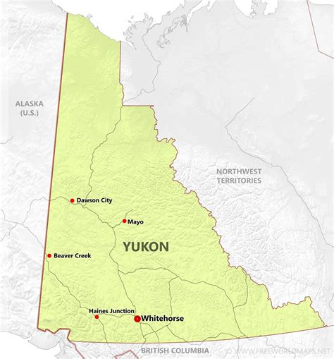 yukon map yukon maps