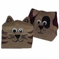 Paper Bag Cat Craft - paper bag animals