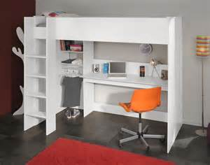 high sleeper bed with desk white avenue swan