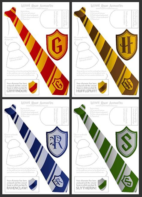 harry potter templates wizard ties badges foldable templates harry potter