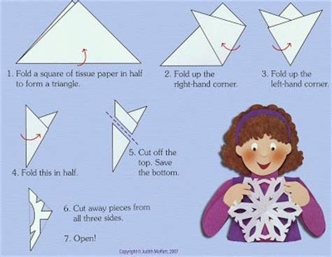 how to make a snowflake out of paper images