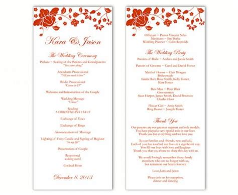 Wedding Program Template Ms Word Travelermanager Microsoft Word Wedding Program Template