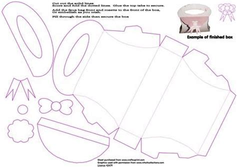 handbag shaped box template on craftsuprint designed by