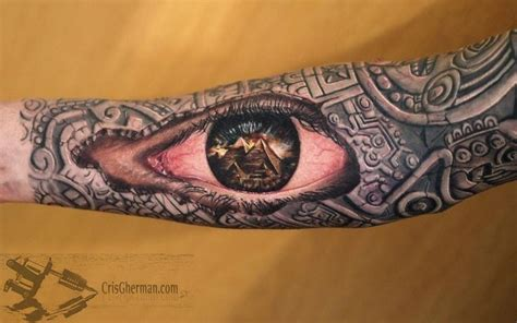 pyramid eye tattoo aztec sleeve an eye i dig it tattoos