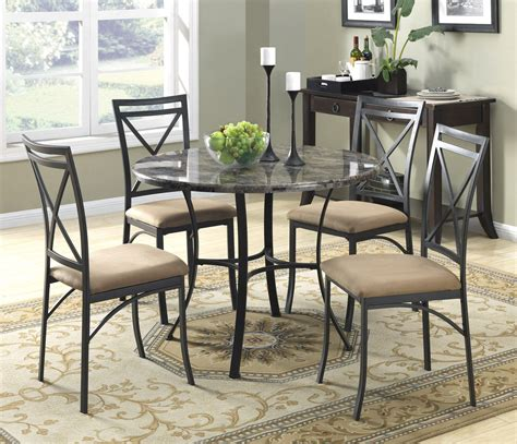 dorel asia faux marble top dining table