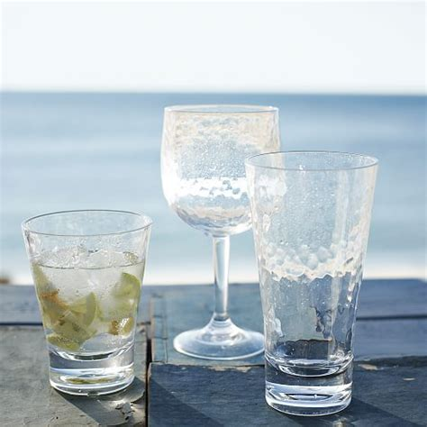 acrylic barware hammered acrylic drinkware set of 4 west elm