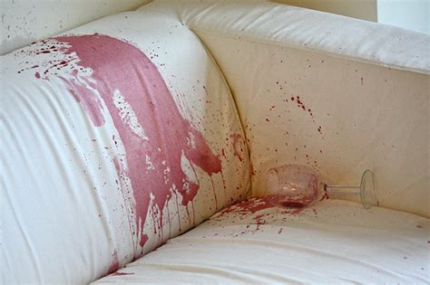 Sofa Stain Removal by Removing A Wine Stain
