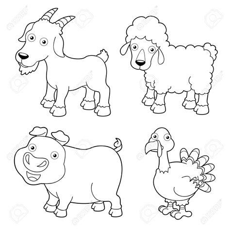 drawn farm animals farm house pencil and in color drawn