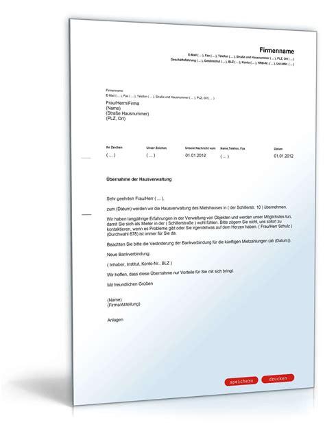 Musterbriefe An Hausverwaltung Werbebrief F 252 R Eine Hausverwaltung Muster Vorlage Zum