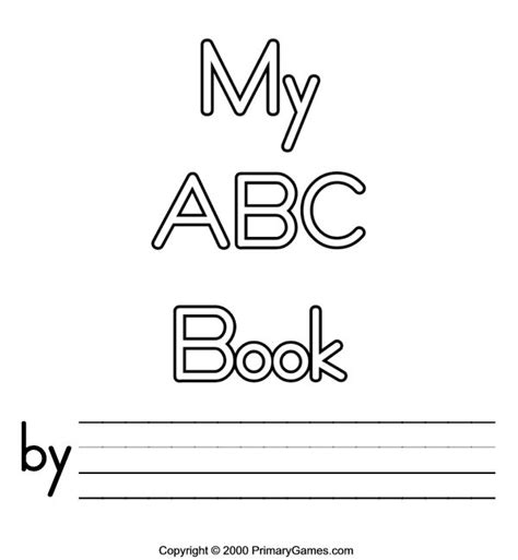 free printable alphabet book template free printable abc book covers abc coloring pages