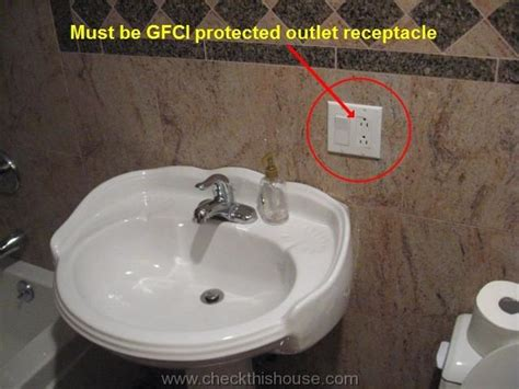 bathroom outlets wiring gfci receptacle for bathroom wiring get free