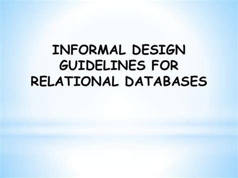design guidelines in dbms fd normalization database management system