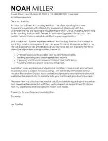 Cover Letter Accounting Best Accounting Assistant Cover Letter Exles Livecareer