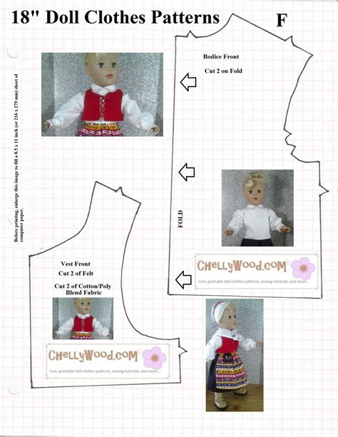 pattern sewing doll one of many free printable sewing patterns for 18 quot doll
