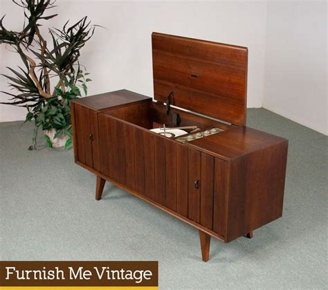zenith record player cabinet mid century modern 1960s vintage zenith stereo console