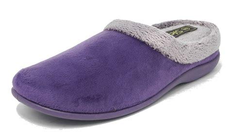 slippers with memory foam womens memory foam fur velour mules slippers open