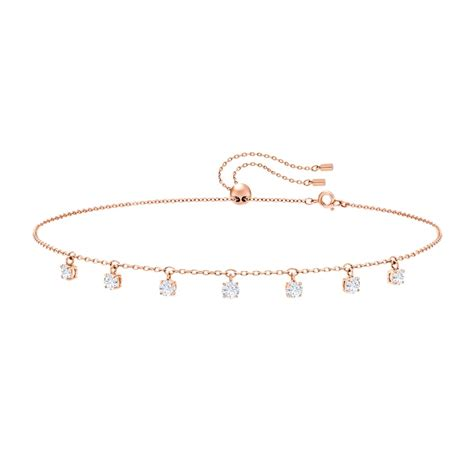 swarovski attract rose gold plated choker necklace 5380061