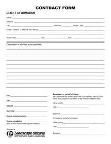 interesting blank contract form example for trades company