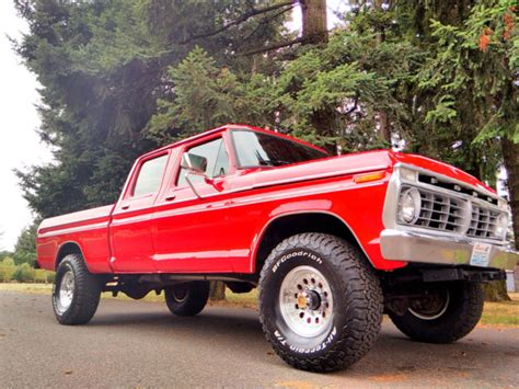 1974 ford crew cab for sale 1974 ford f 250 4x4 crew cab highboy excellent condition