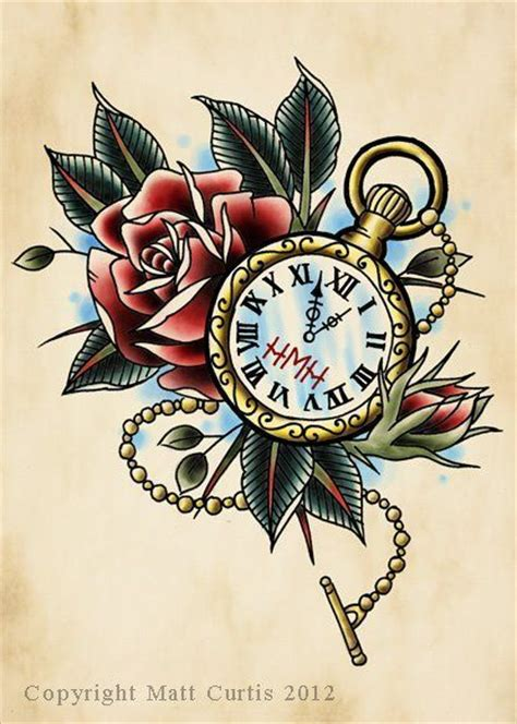 traditional pocket watch tattoo more pocket watches tattoos clock tattoos