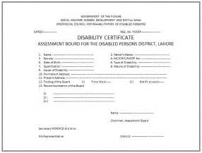 Certification Disability Letter disability certificate format