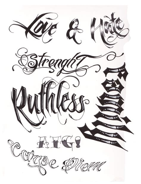 tattoo script by a t g 4 on deviantart