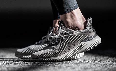 Adidas Alphabounce Engineered Mesh Grey Premium Original Sneakers adidas alphabounce engineered mesh release date justfreshkicks