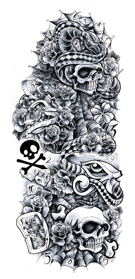Commission Sleeve Andrea By Willemxsm On Deviantart Black And White Sleeve Tattoos Drawings