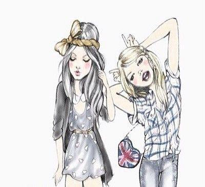 dibujos a lapiz de dos amigas archivos dibujos de amor a dibujos de mejores amigas por siempre dibujar amigas