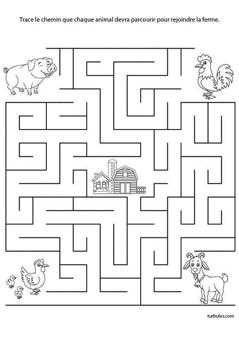 Labyrinthe 224 Imprimer La Ferme Turbulus Jeux Pour Enfants