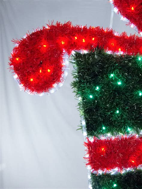 tinsel christmas present led rope light motif 1m