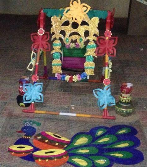 krishna janmashtami themes decorate your janmashtami jhula with flowers made of paper